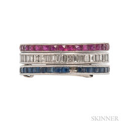 Three Platinum Eternity Bands