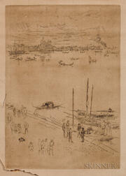 James Abbott McNeill Whistler (American, 1834-1903)      Upright Venice