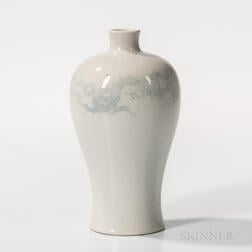 White Meiping   Vase