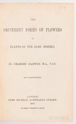 Darwin, Charles (1809-1882) The Different Forms of Flowers on Plants of the Same Species.