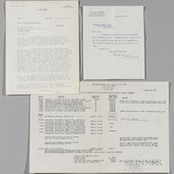 Wharton, Edith (1862-1937) Archive Including Three Signed Letters and Other Material.