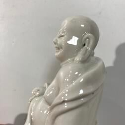 Small Dehua White Figure of Budai