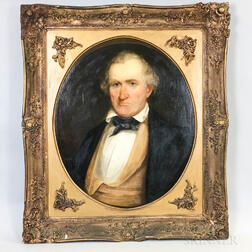 Anglo/American School, 19th Century       Portrait of a Man with a Scowl