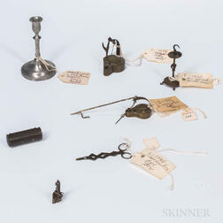 Seven Miniature Lighting Items
