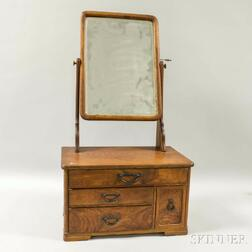 Zelkova Wood Dressing Table Case with Mirror