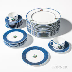 "Cartier ""La Maison Venitienne"" Dinnerware Service for Eight"