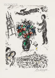 Marc Chagall (Russian/French, 1887-1985)      Bouquet sur la ville