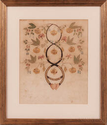 "Sarah Rodman ""Tree of Life"" Family Register and Calligraphic Work"
