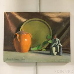 Two Unframed Edwin B. Sears (American, 20th Century) Oil on Canvas Still Lifes