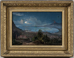 Continental School, 19th Century      Bay of Naples Under a Full Moon