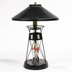Painted Johnnie Walker Buoy Advertising Lamp