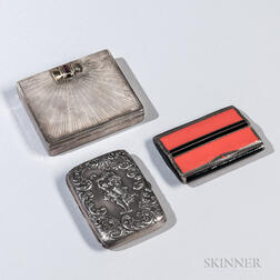 Three Sterling Silver Cigarette Cases