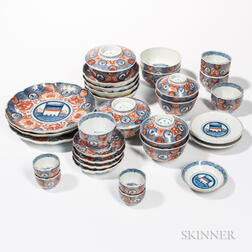 Set of Thirty-four Imari Wares