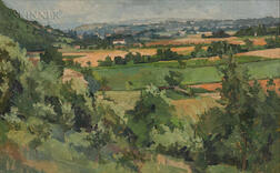 American School, 20th Century      Farm Landscape