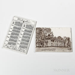 Thirty-three Assorted Wedgwood Calendar Tiles