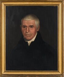 Deacon Robert Peckham (Massachusetts, 1785-1877)      Portrait of a Man in a Black Jacket