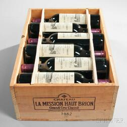 Chateau La Mission Haut Brion 1982, 12 bottles (owc)