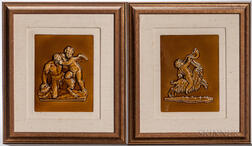 Pair of Wedgwood Majolica Tiles