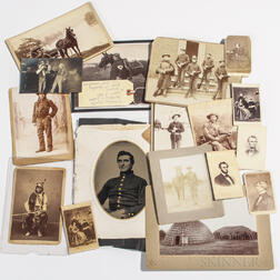 Group of Civil War and Indian War Images