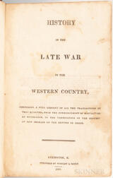 McAfee, Robert Breckinridge (1784-1849) History of the Late War in the Western Country.