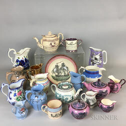 Twenty Lustre-decorated Ceramic Items