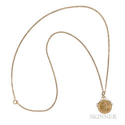 Liberty Head Five Dollar Gold Coin-mounted Pendant