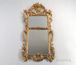 Baroque-style Carved and Gilt-gesso Mirror