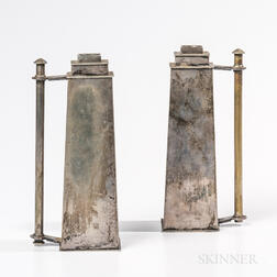 "Pair of Bernard Rice and Sons ""Skyscraper"" Candlesticks"