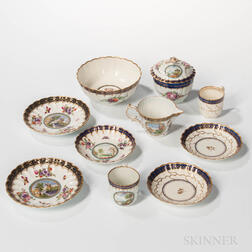 Group of Dr. Wall Period Worcester Porcelain Teaware