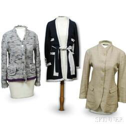 Two Chanel Sweaters and a Jill Sander Jacket