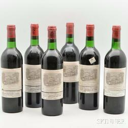 Chateau Lafite Rothschild 1975, 6 bottles