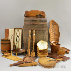 Group of Wooden Decorative Items