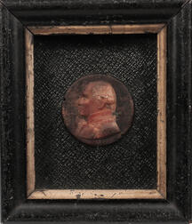 Rare First Phase Wax Relief Miniature of Gaspard Monge