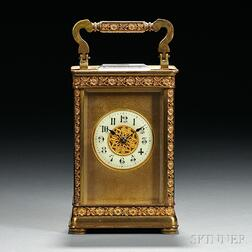 Brass Hour-striking Carriage Clock