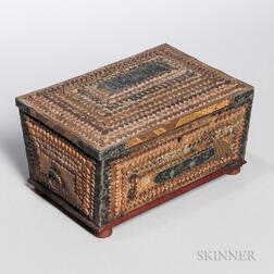 Tramp Art Jewelry Box