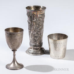 Three Pieces of Victorian Sterling Silver Tableware