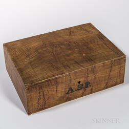Faux Figured Maple Paint-decorated Box