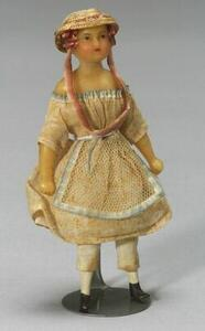 Tiny Wax Doll in Original Outfit