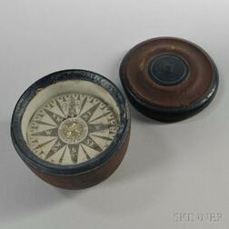 Spencer, Browning & Co. Red- and Blue-painted Cased Compass