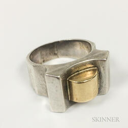 Sterling Silver and 14kt Gold Ring