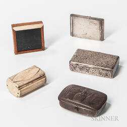 Five Small Boxes