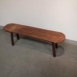Russell Hunt Primitive Oak Bench