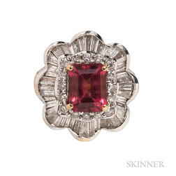 18kt Gold, Pink Tourmaline, and Diamond Ballerina Ring