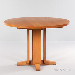 Charles Webb Round Oak Dining Table