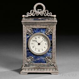 Lapis Lazuli Hour-repeating and Alarm Carriage Clock