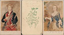 Washington, George (1732-1799) Cartes-de-visite, Three Signed by Mary Anna Custis Lee (1808-1873).