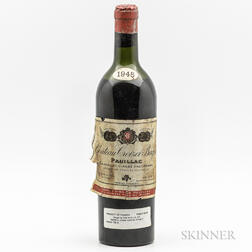 Chateau Croizet Bages 1945, 1 bottle