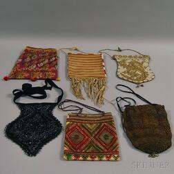 Six Assorted Beaded and Embroidered Bags