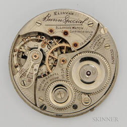 "Illinois ""Bunn Special"" Model 163A Movement and Dial"