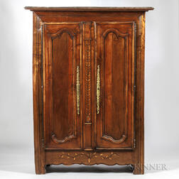French Provincial Carved Wardrobe